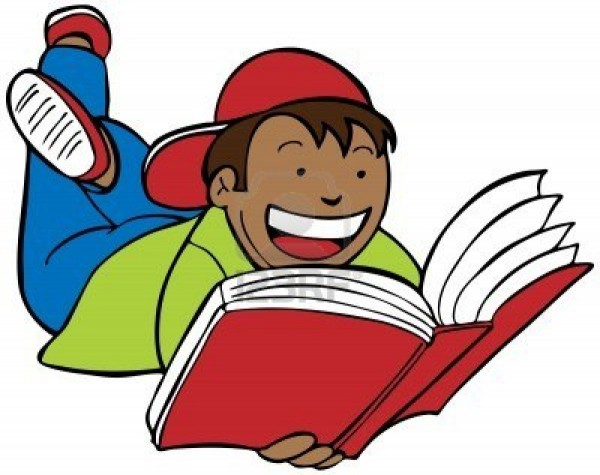 Free Clip Art Children Reading Books.