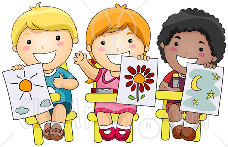 Children at school clip art.