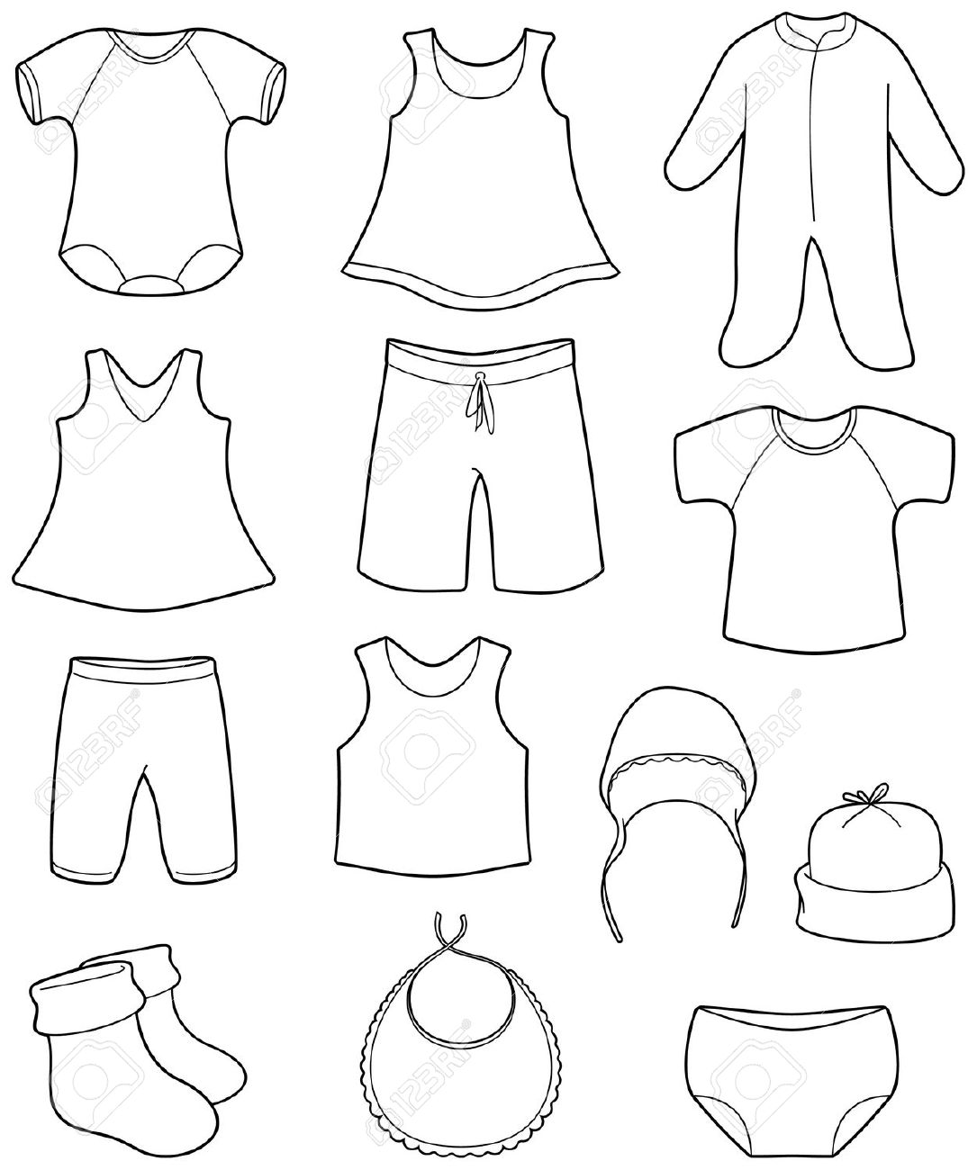 Children's Clothes Royalty Free Cliparts, Vectors, And Stock.