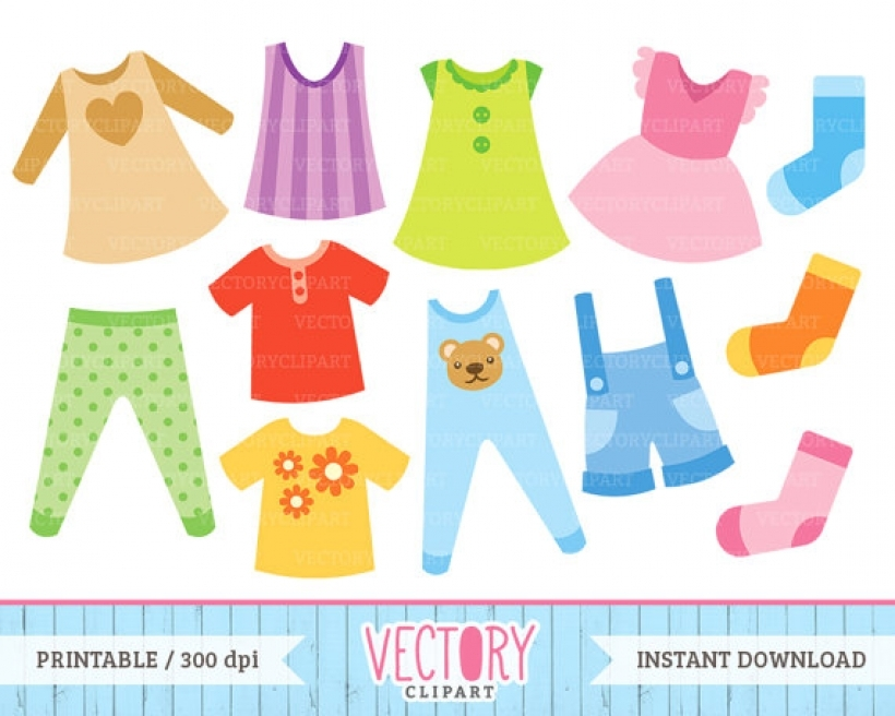 12 clothes clip art kids clothes clipart vectoryclipart on etsy.