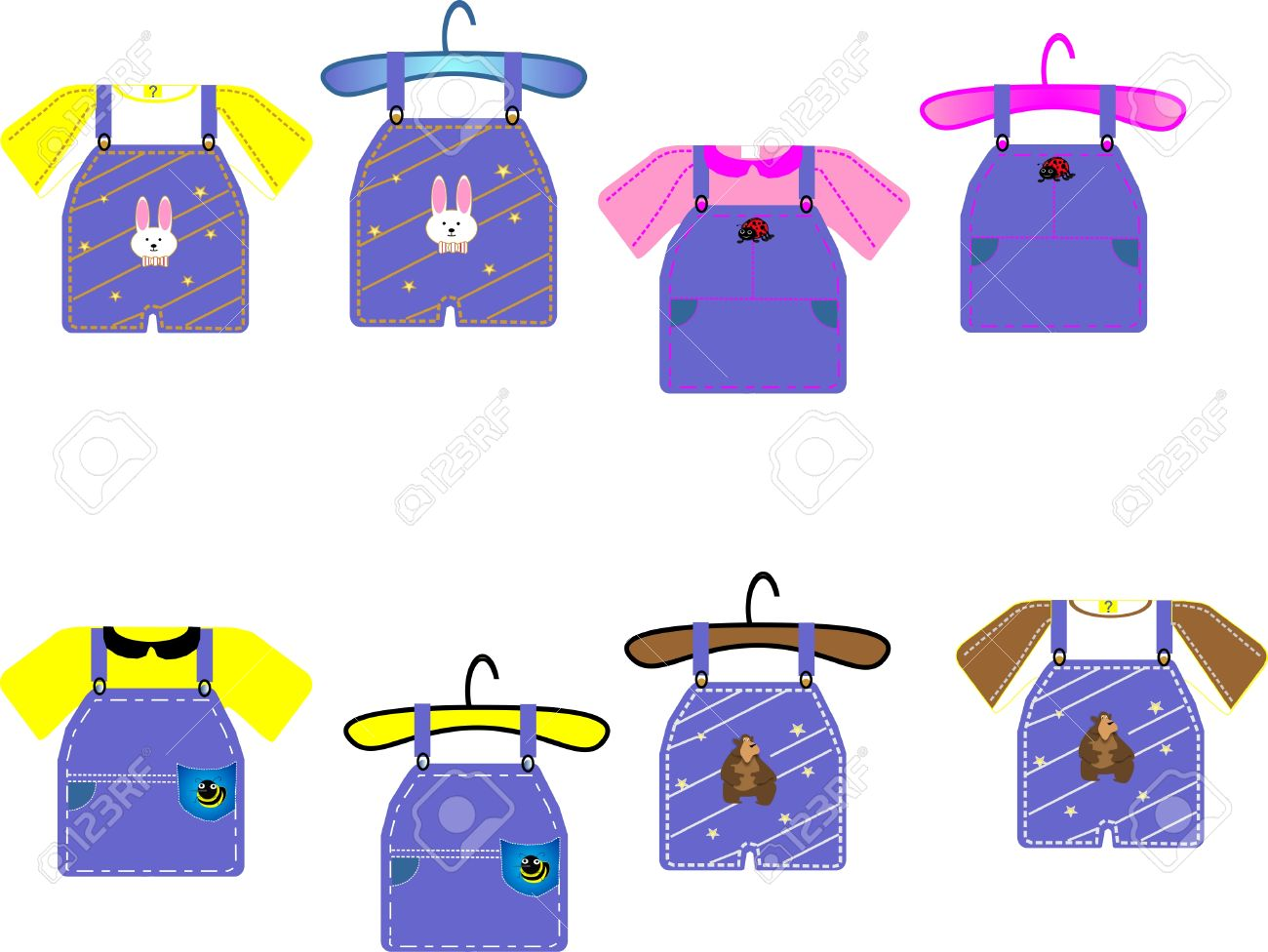 Children's Clothing For Boys And Girls, Great For Cards, Clip.