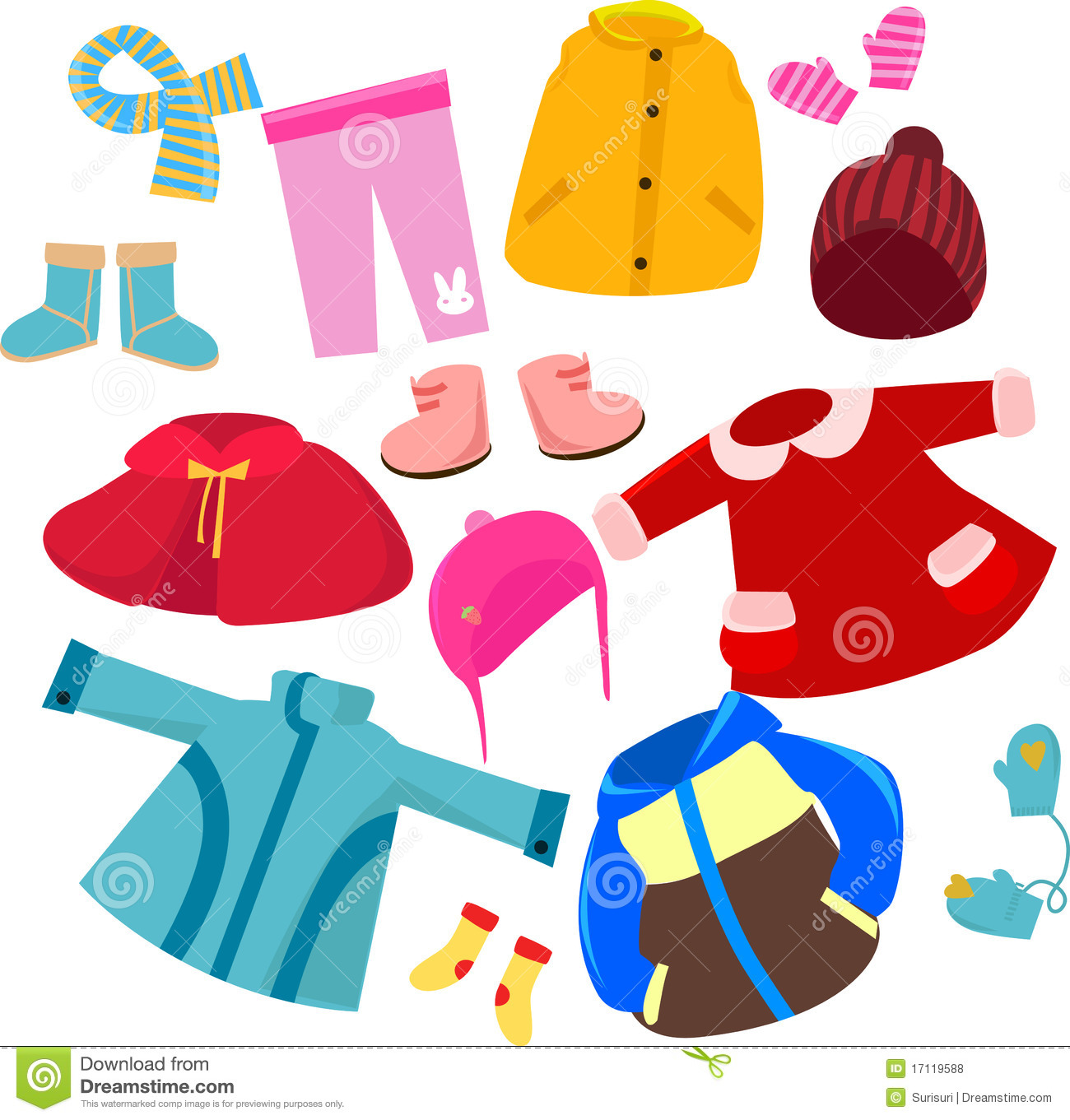 Clothes clipart for kids.