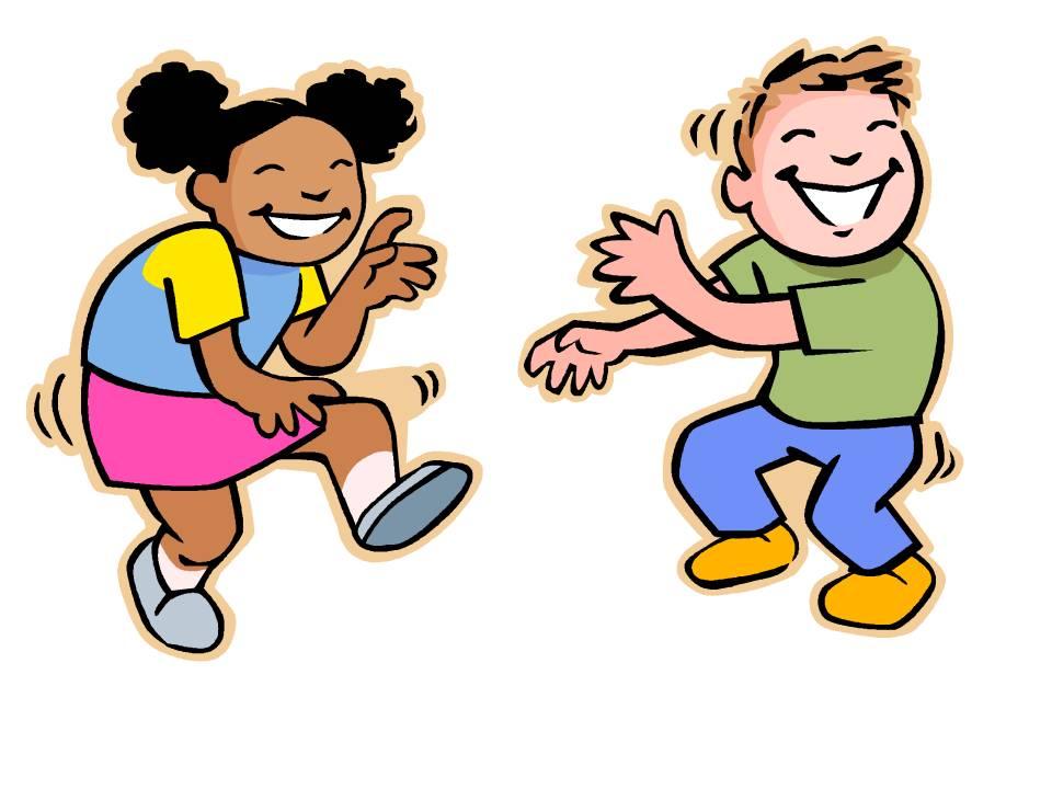 Happy Kids Dancing Clipart.
