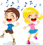Happy Kids Dancing Clipart.