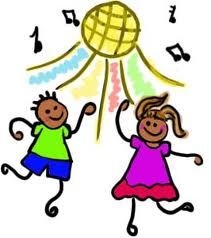 Kids Dance Party Clip Art.
