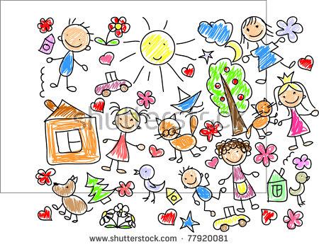Kids Drawing Stock Photos, Royalty.
