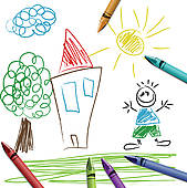 Clipart children drawing.