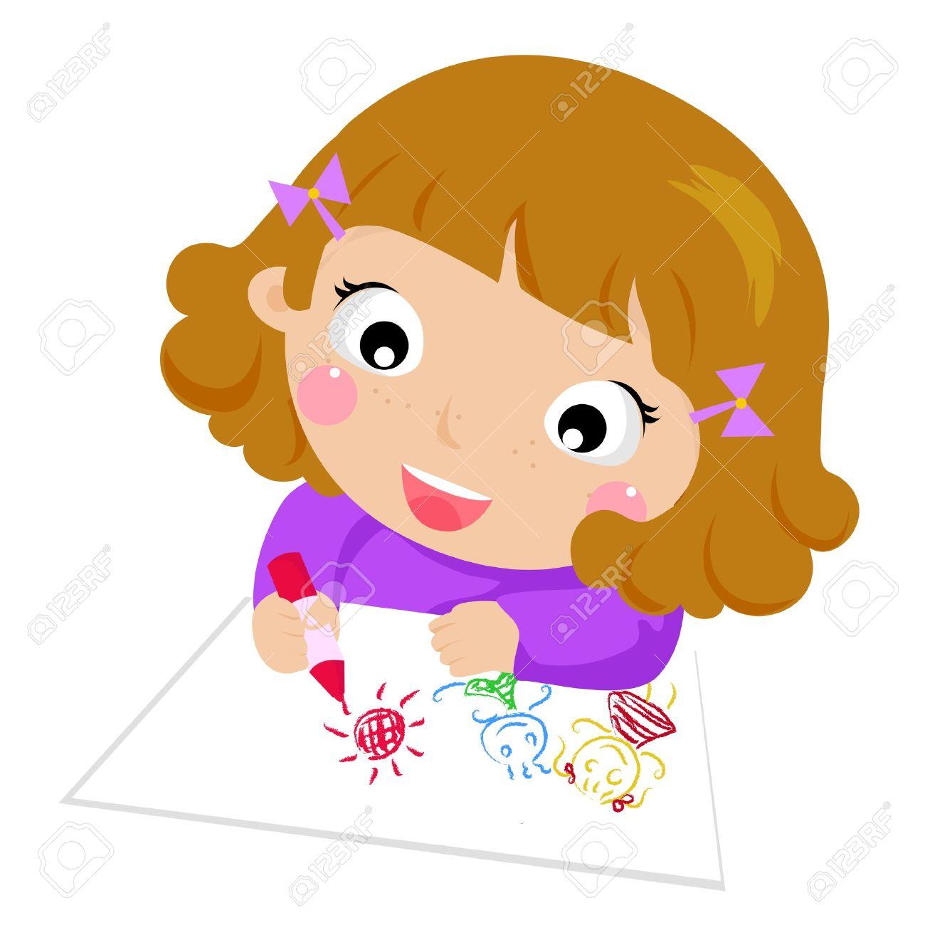 clipart cartoon drawings - Kid Cartoon Drawing