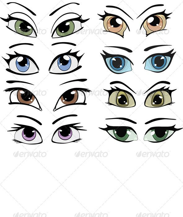 Dolly anime eyes clipart.