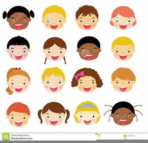 Clipart Of Children Faces.