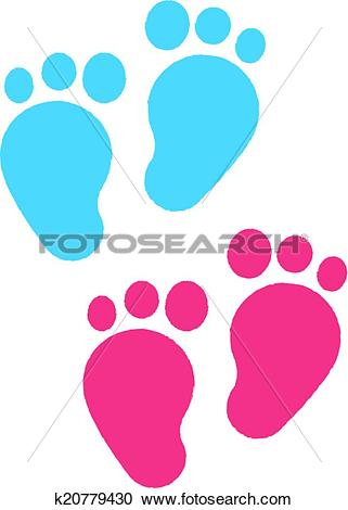 Clipart of Baby Feet Children's Illustrations k20779430.