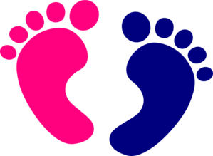 Kids feet clipart.