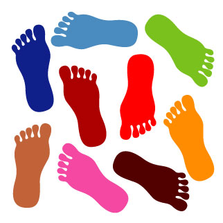 Walking Feet Clipart.