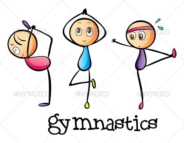 Gymnastic Clip Art Star.