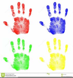Childrens Hand Prints Clipart.