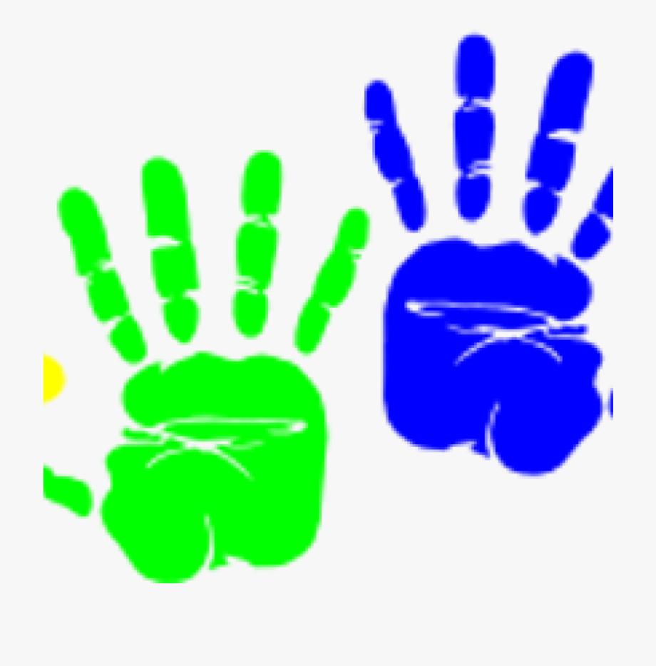 Handprint Clipart Blue.