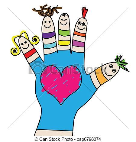 EPS Vector of Children hand.