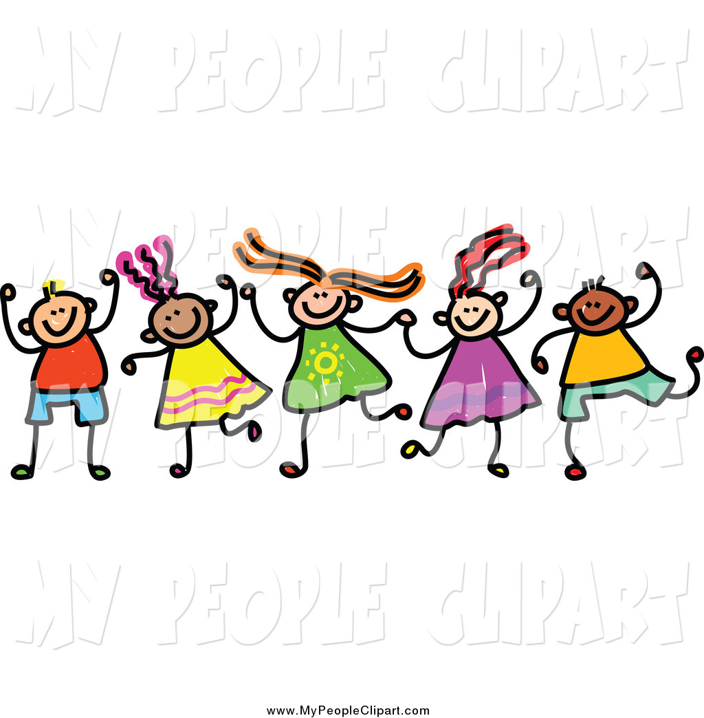 Kids Holding Hands Clipart.