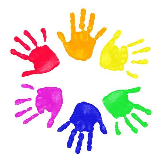 Kids hands clipart.
