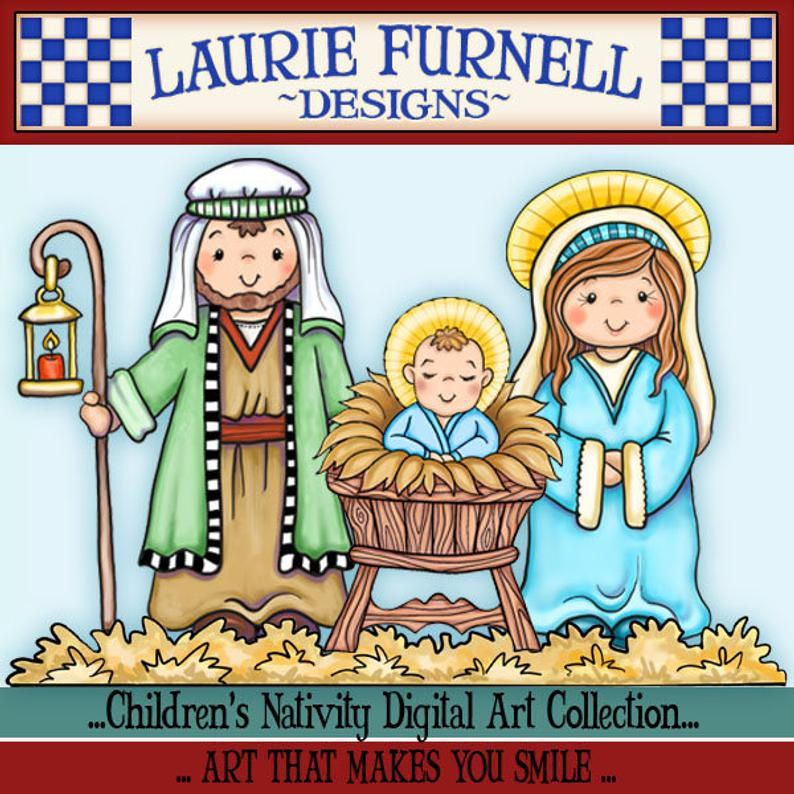 Nativity Clip Art, Children's Nativity, Laurie Furnell, Christmas Clip Art,  Christmas Paper Crafts, Christmas Card Making, Xmas Scrapbooking.