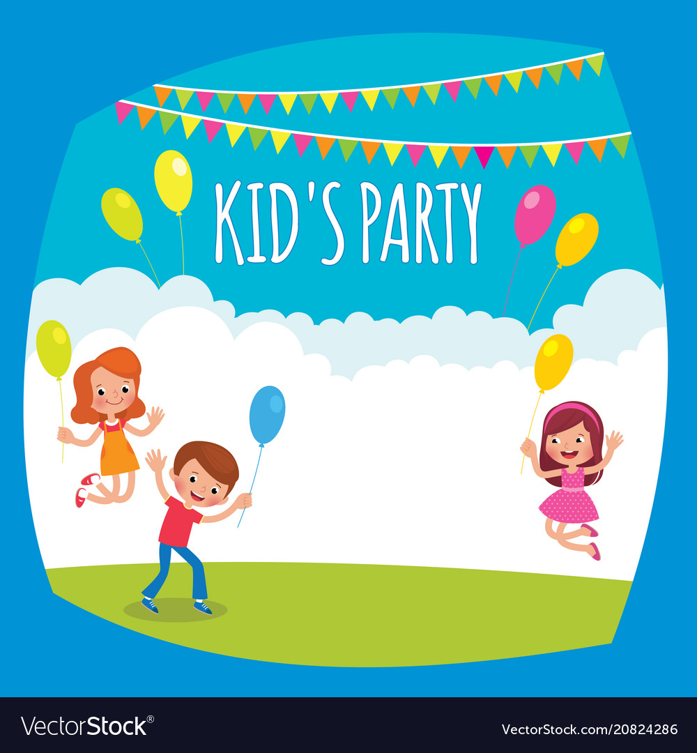 Flyer or poster for a childrens party.