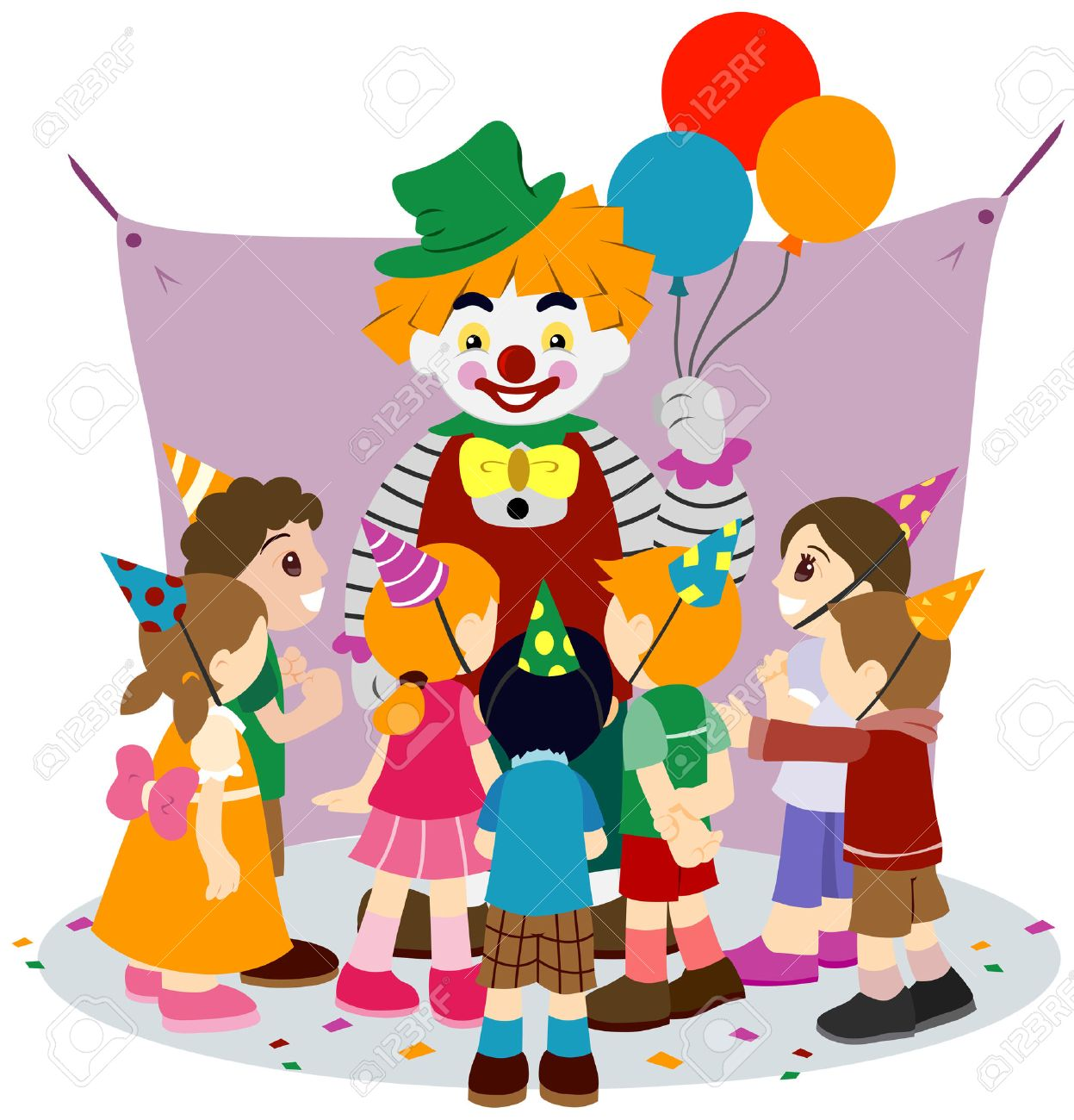 Childrens Party with Clipping Path.