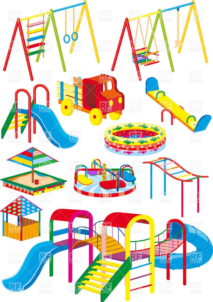 Children on playground clipart.