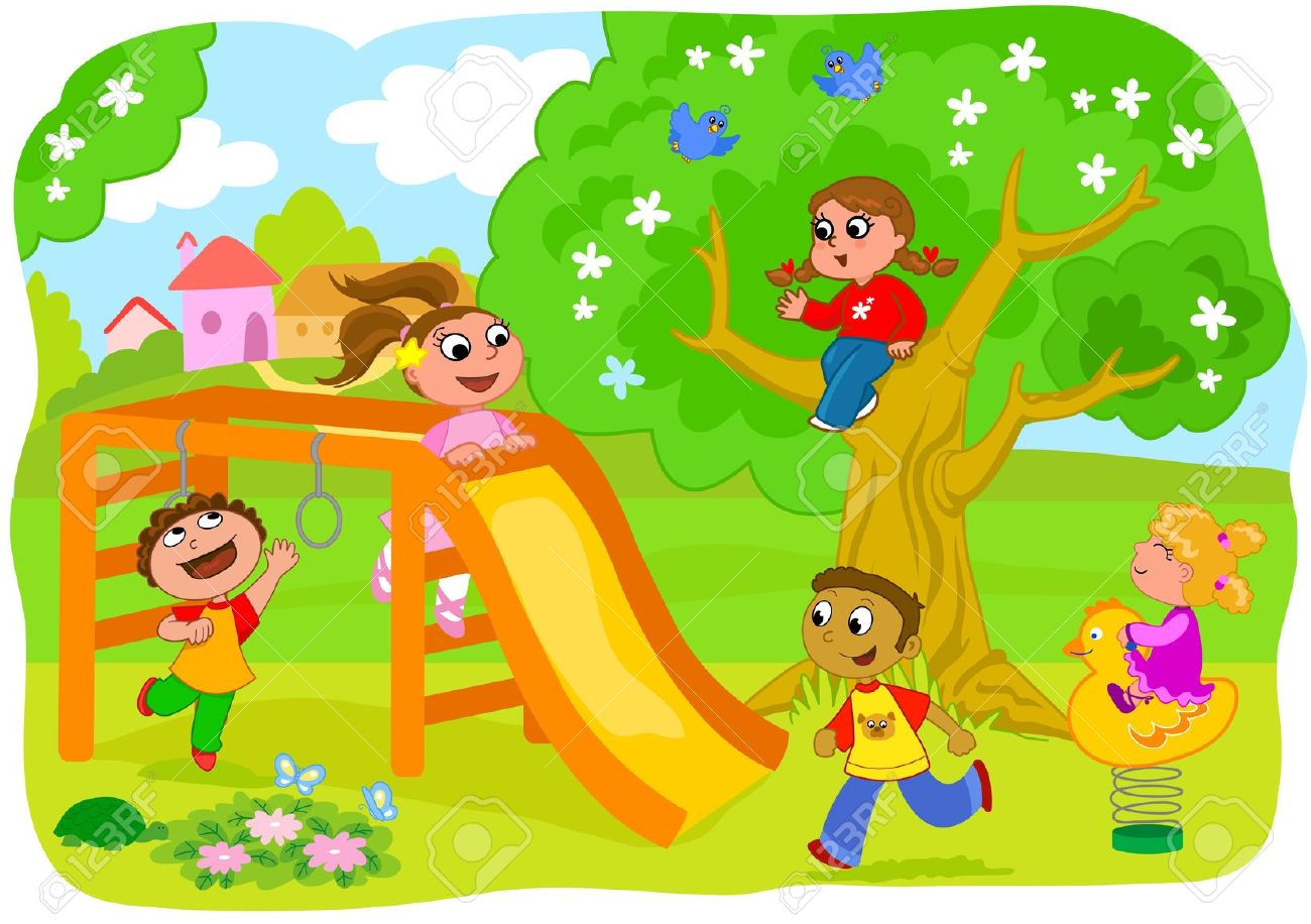 Clipart kids playground.