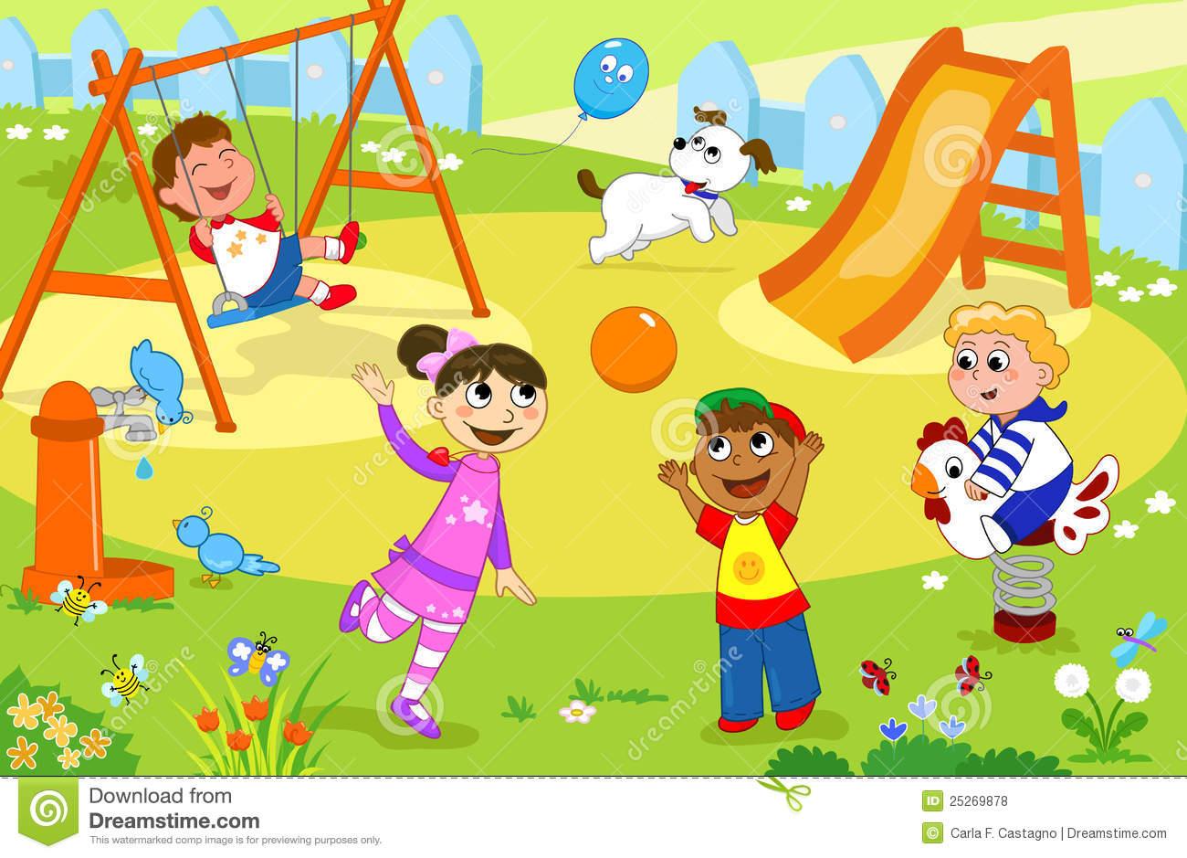 Playground Stock Illustrations.