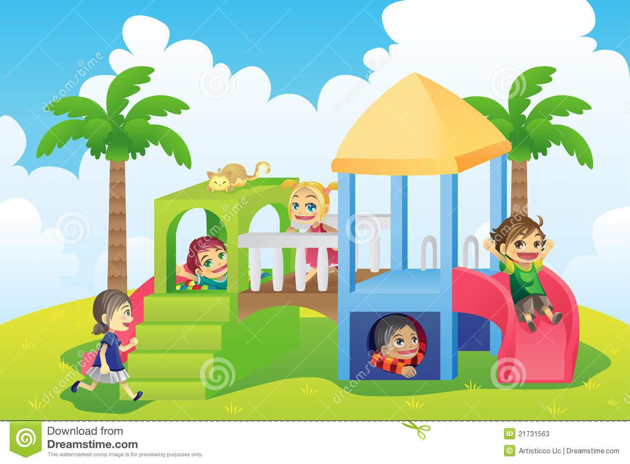 Playground clipart children playing clip art.
