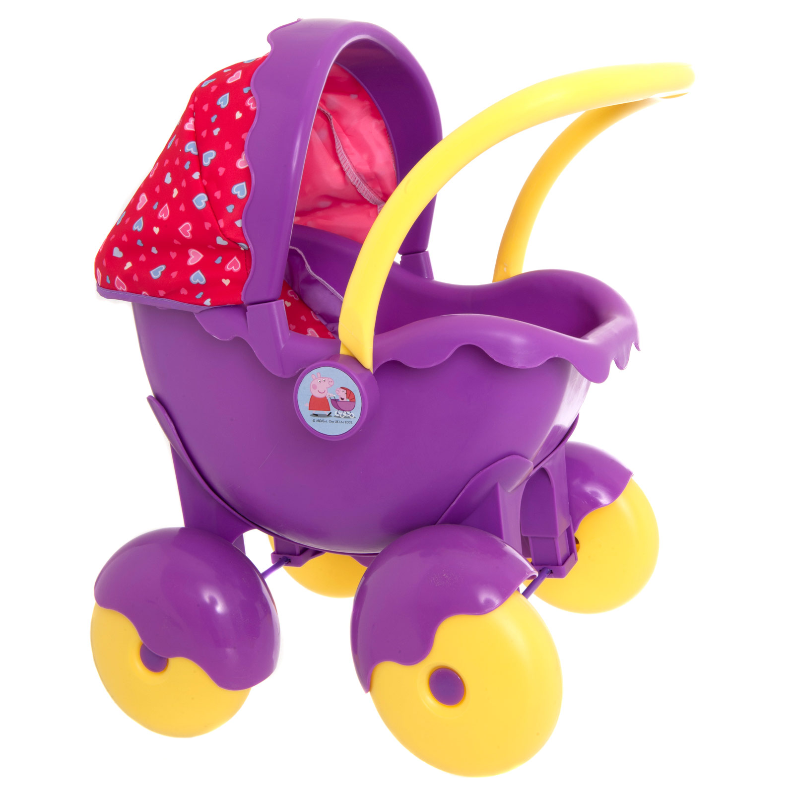 Childrens Girls Peppa Pig Character Push Along Doll Pram Buggy.