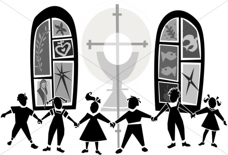 Black and White Kids at Church.