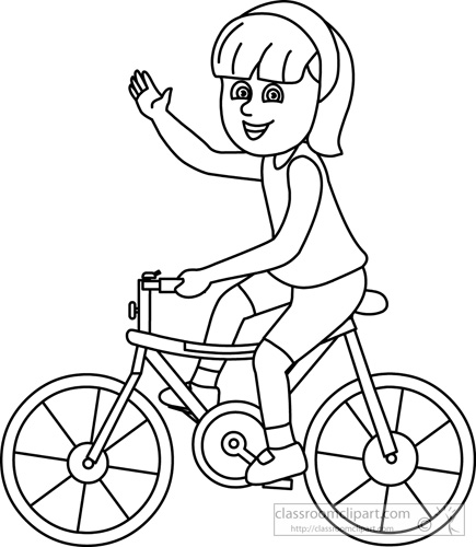 Bicycle Black And White Clipart.