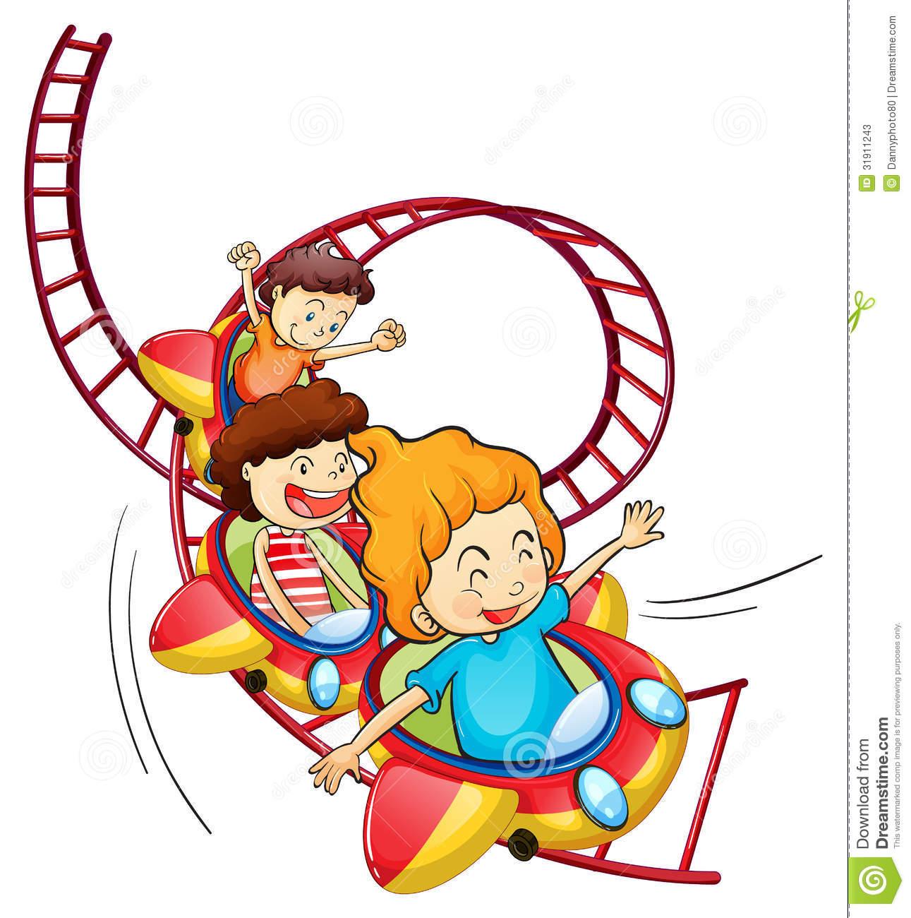 Children's Train Ride Stock Illustrations.