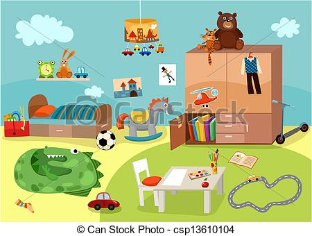 Childrens room Vector Clipart Royalty Free. 199 Childrens room.
