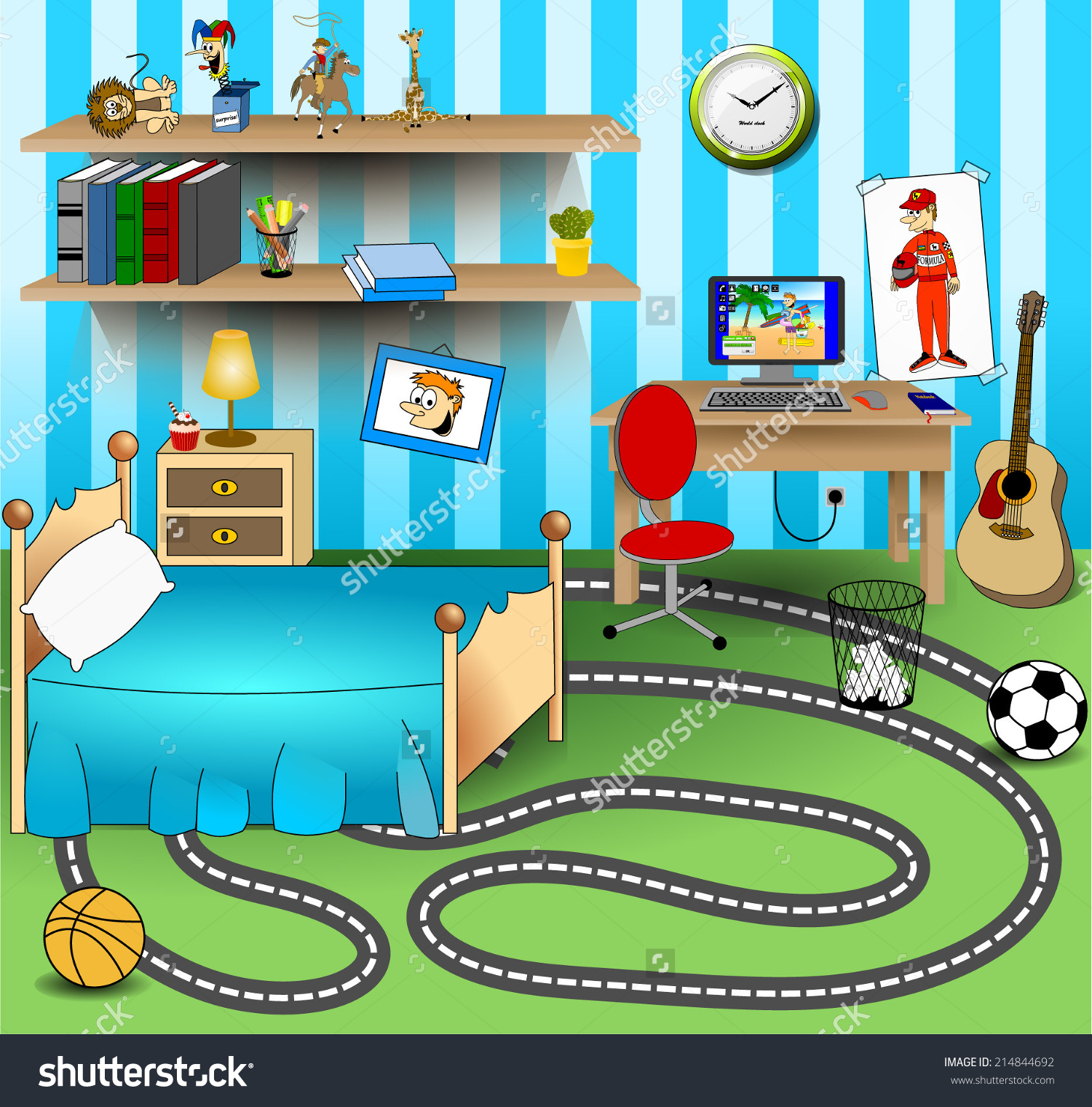 Clipart for childrens bedroom.