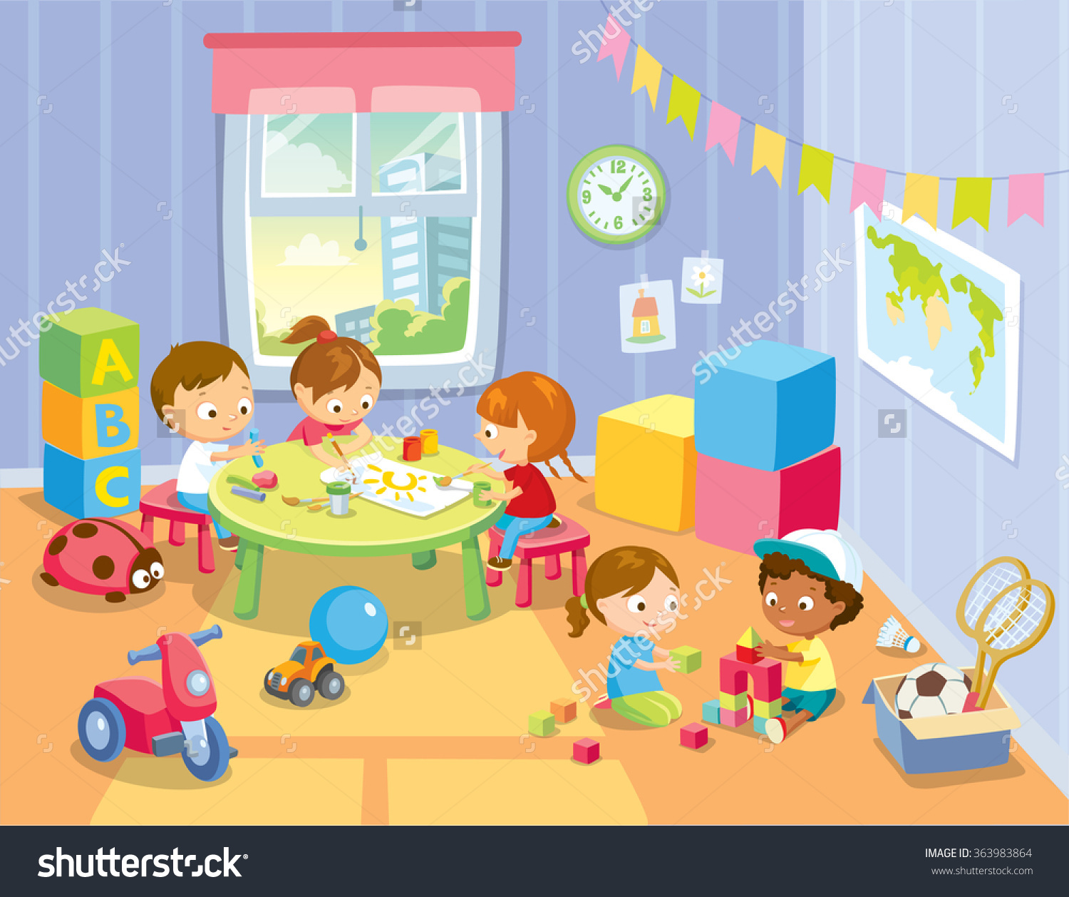 Toy room clipart.