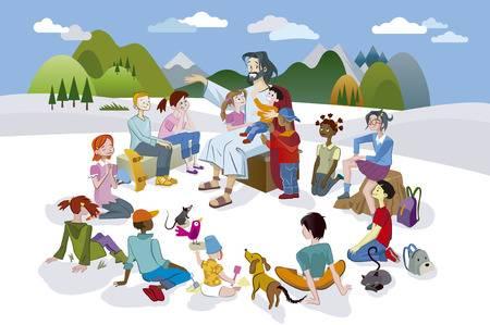 Jesus Teaching Children Clipart.
