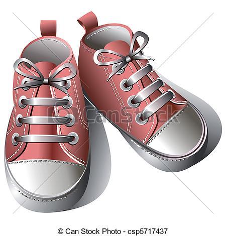 Vectors Illustration of Children shoes.