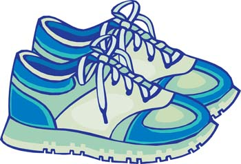 Childrens shoes clipart.