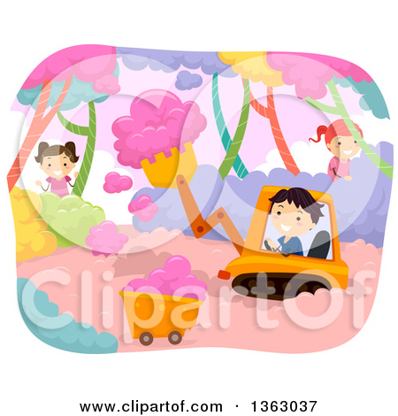 Clipart of a Sign with Colorful Sweets and Candy on Pink Grunge.