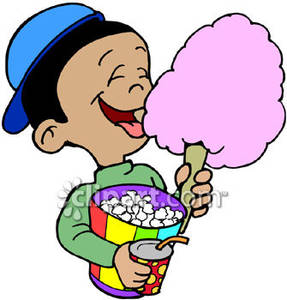 clipart of boy eating popcorn #16