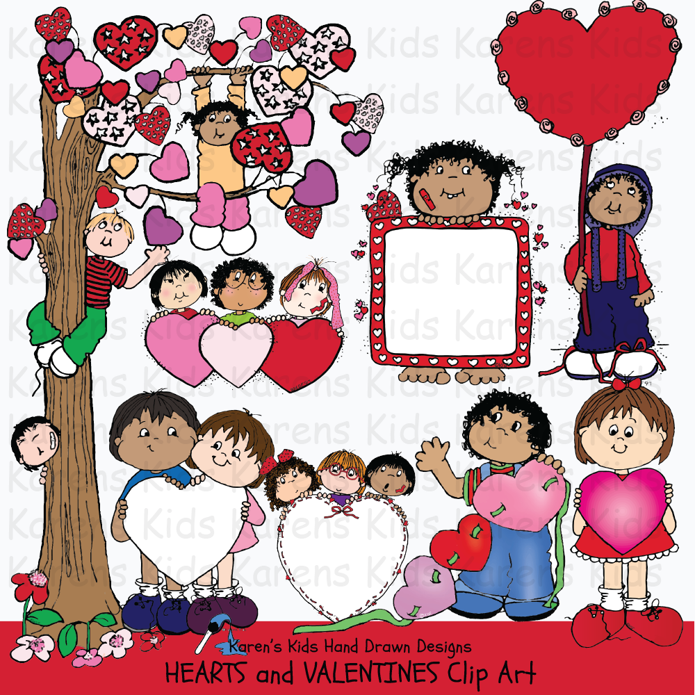 Clip Art Hearts and Valentines.