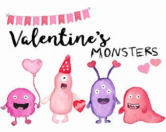 Valentine's clip art Cute Children's art School.