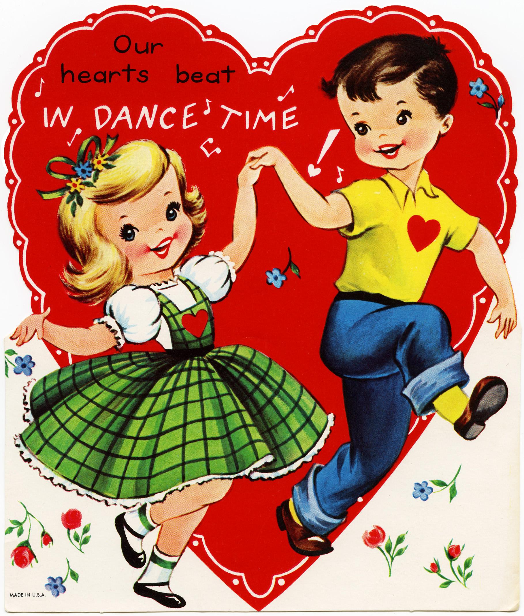 Dance Time Children's Valentine.