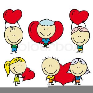 Childrens Valentine Clipart.