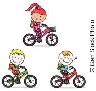 Kids bike Clipart Vector Graphics. 1,708 Kids bike EPS clip art.