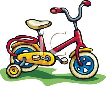 Child's Bike With Training Wheels.