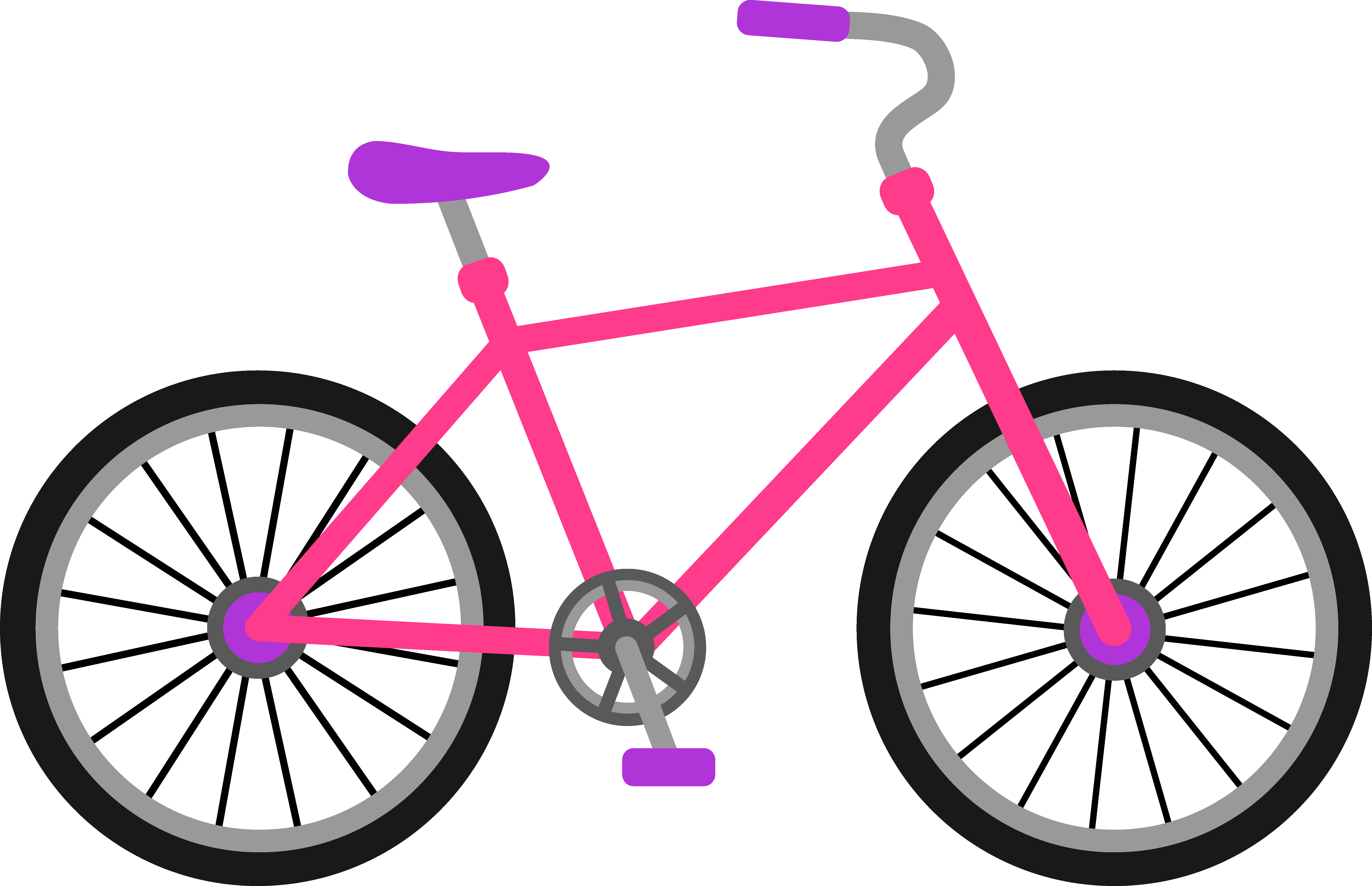 Childs bike free clipart.