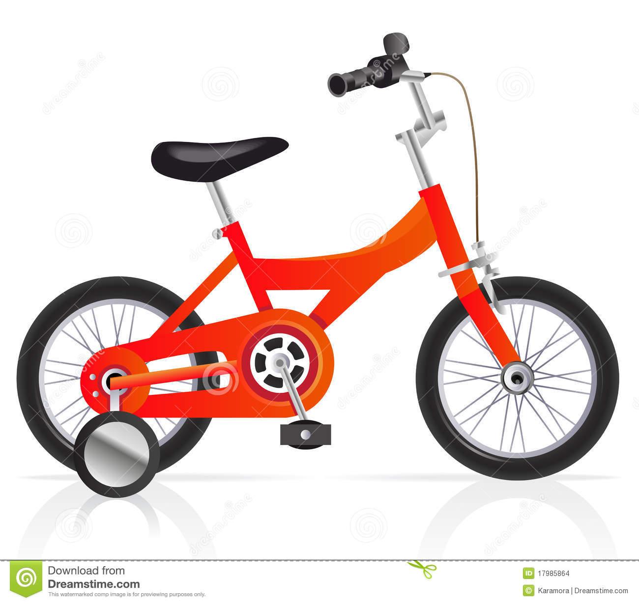 Childrens bike clipart.
